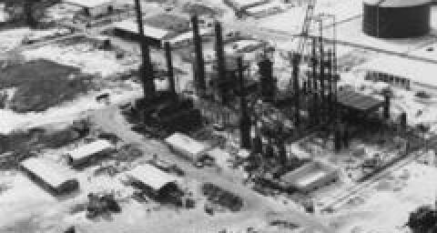 Le chantier de la raffinerie de Port-Gentil